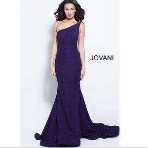 Blue Jovani Pageant Prom Long Train Dress Gown